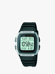 Casio W 96H 1Aves Ss Unisex Core Resin Strap Watch Black Green