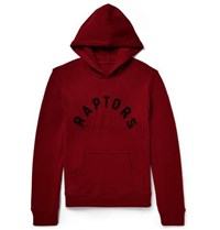 The Elder Statesman Nba Raptors Intarsia Cashmere Hoodie Red