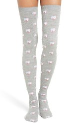 Marc Jacobs Women's Embellished Thigh High Wool Socks