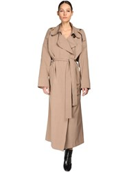 Petar Petrov Oversize Cotton And Silk Trench Coat Brown