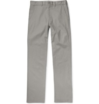 Freemans Sporting Club Winchester Slim Fit Linen And Cotton Blend Chinos Gray
