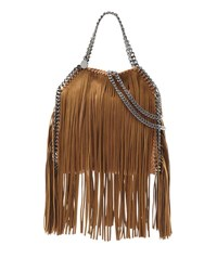 Stella Mccartney Falabella Mini Fringe Tote Bag Tan