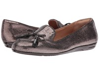 Sofft Novato Copper Coffee Cracked Metal Kid Suede Patent Women's Flat Shoes Brown