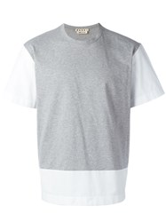 Marni Two Tone T Shirt Grey