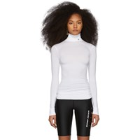 Ambush Ssense Exclusive White Logo Turtleneck