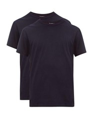 Reigning Champ Set Of Two Cotton Jersey T Shirts Navy