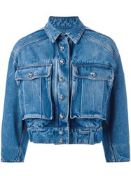 Dolce And Gabbana Cropped Denim Jacket Blue