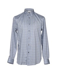Faconnable Shirts Slate Blue