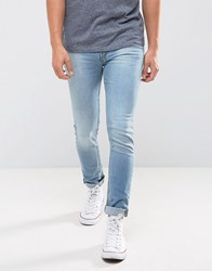 New Look Skinny Jeans In Light Wash Blue Mid Blue