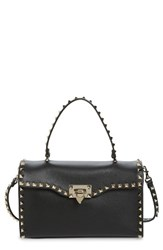 Valentino Small Rockstud Leather Top Handle Satchel