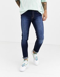 Another Influence Infleunce Skinny Noa Jeans In Indigo Navy