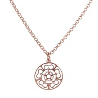Hoochie Mama Rose Medallion Necklace Rose Gold