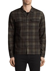 Allsaints Redbluff Slim Fit Check Shirt Oxblood Red Multi