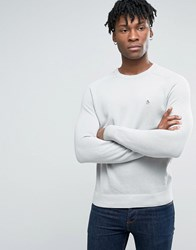 Original Penguin Crew Jumper Honeycomb Texture Knit In Grey Mirage Grey
