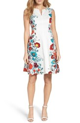 Adrianna Papell Women's Floral Fit And Flare Dress