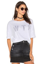 Wildfox Couture Wed Thurs Fri Top White