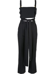 Loveless Crop Top And Trousers Set Black