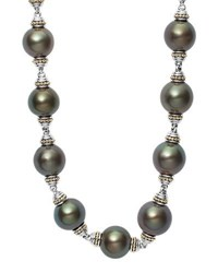 Lagos Luna Sterling Silver Tahitian Pearl Necklace 18