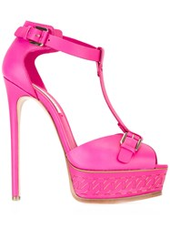 Casadei Platform Sandals Pink Purple