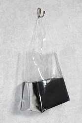 Forever 21 Clear Metallic Colorblock Tote