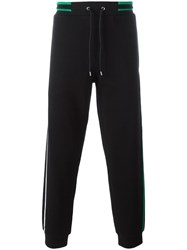 Mcq By Alexander Mcqueen Contrast Stripe Track Pants Black