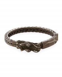 John Hardy Men's Naga Dragon Id Bracelet Black