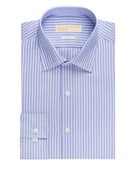 Michael Michael Kors Regular Fit Stripe Dress Shirt New Blue