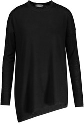 Magaschoni Asymmetric Cashmere Sweater Black