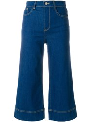 Alice Olivia Cropped Flared Jeans Blue