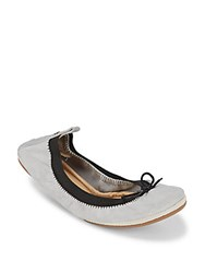 Yosi Samra Dress Foldable Leather Flats Dove Grey
