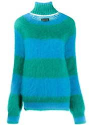 Gianluca Capannolo Striped Knitted Jumper Blue