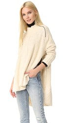 Free People Spin Around Poncho Ivory
