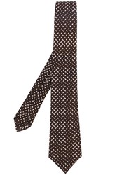 Kiton Oval Print Tie Brown