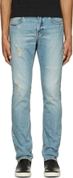 Mcq By Alexander Mcqueen Blue Distressed Jeans