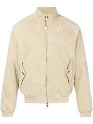 K Way Zipped Bomber Jacket Nude And Neutrals