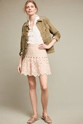 Anthropologie Gracie Mini Skirt Ivory
