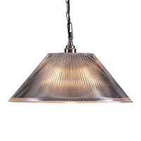 Old School Electric Prismatic Conical Ceiling Light Clear