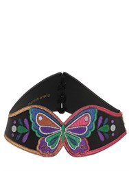 Manish Arora Butterfly Lurex And Leather Corset Belt