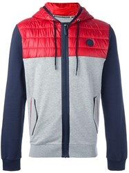 Bikkembergs Colour Block Jacket Grey