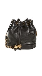 Wgaca What Goes Around Comes Around Chanel Black Small Bucket Bag