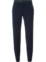 Paul Smith Black Label Cropped Tapered Trousers Blue