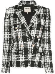 L'agence Kenzie Double Breasted Tweed Blazer 60