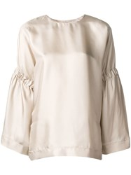 Alysi Loose Fit Blouse Nude And Neutrals