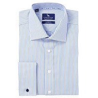 Chester Barrie By Butcher Stripe Double Cuff Shirt Sky Blue