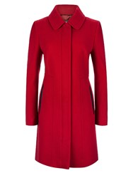 Planet Red Seam Detail Coat