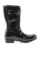 Hunter Original Short Gloss Boot Black