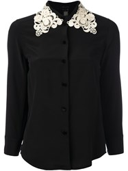 Marc Jacobs Embroidered Collar Shirt Black