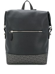 Salvatore Ferragamo Dynamo Gancini Backpack Black