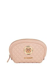 Love Moschino Bustina Nappa Quilted Pouch Pink