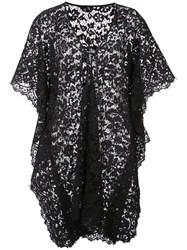 Dolce And Gabbana Lace Kaftan Women Silk Cotton Viscose Polyimide 40 Black